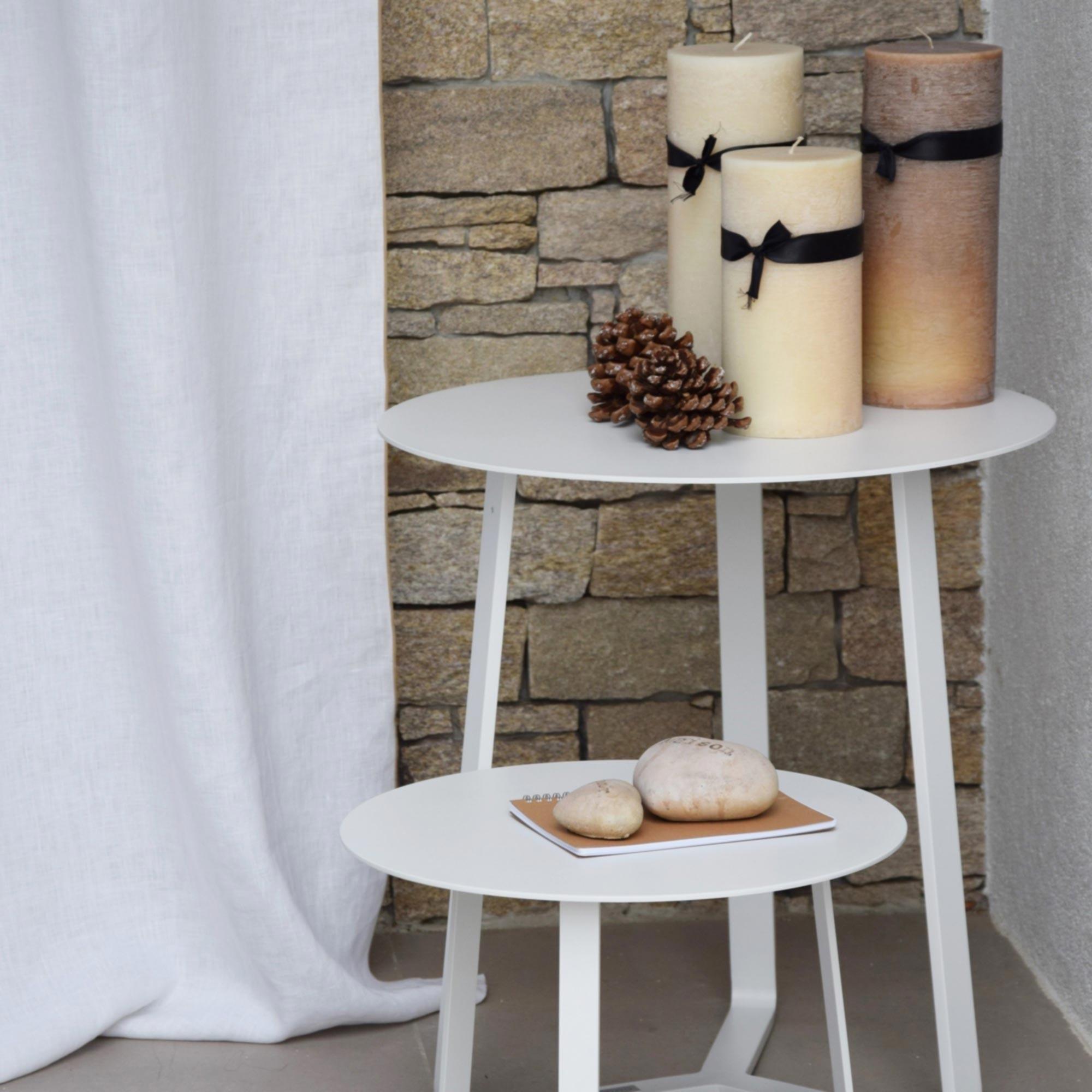 rideau en lin lav blanc bourdon naturel. Black Bedroom Furniture Sets. Home Design Ideas