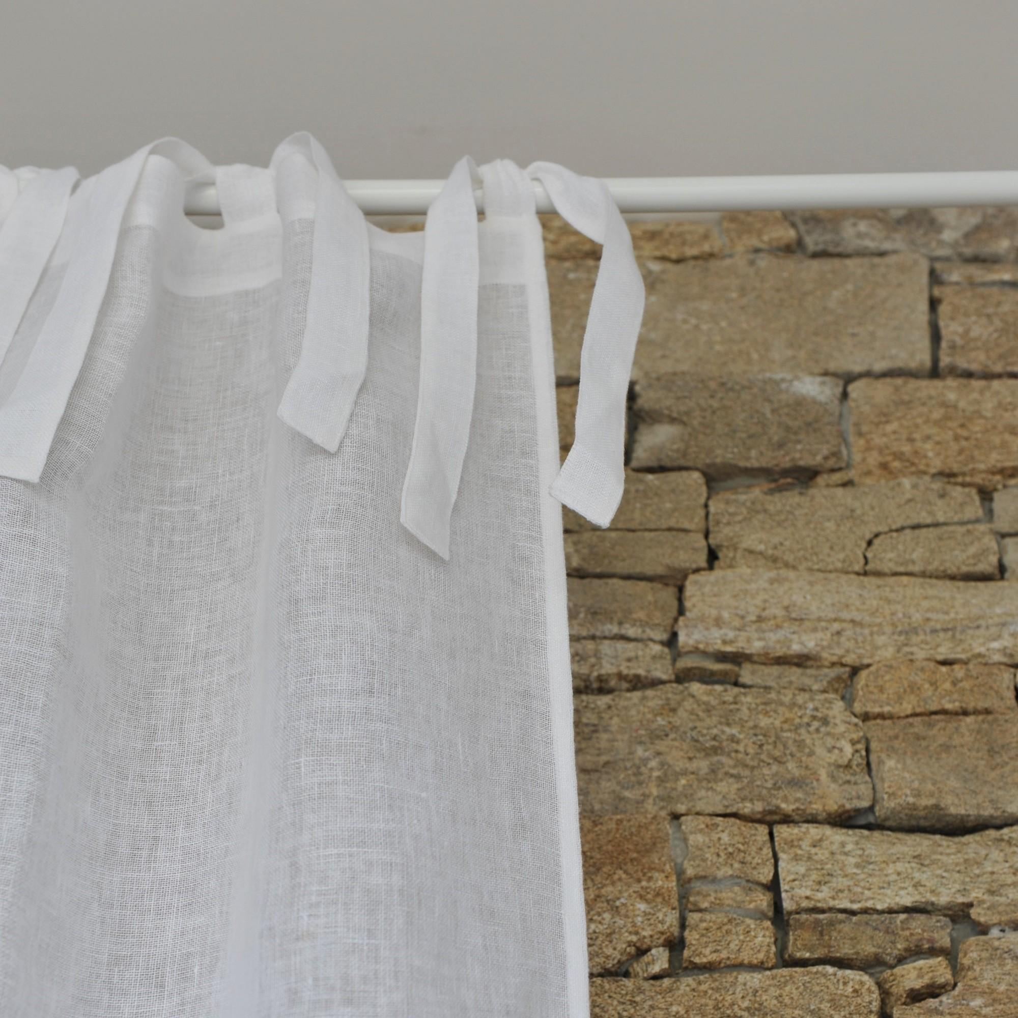 White Linen Gauze Curtain Maison D 39 T