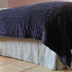 Natural washed linen bed base cover