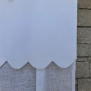 Store en lin Ile d'Yeu blanc
