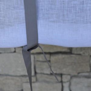 Store en gaze de lin Ile d'Yeu gris