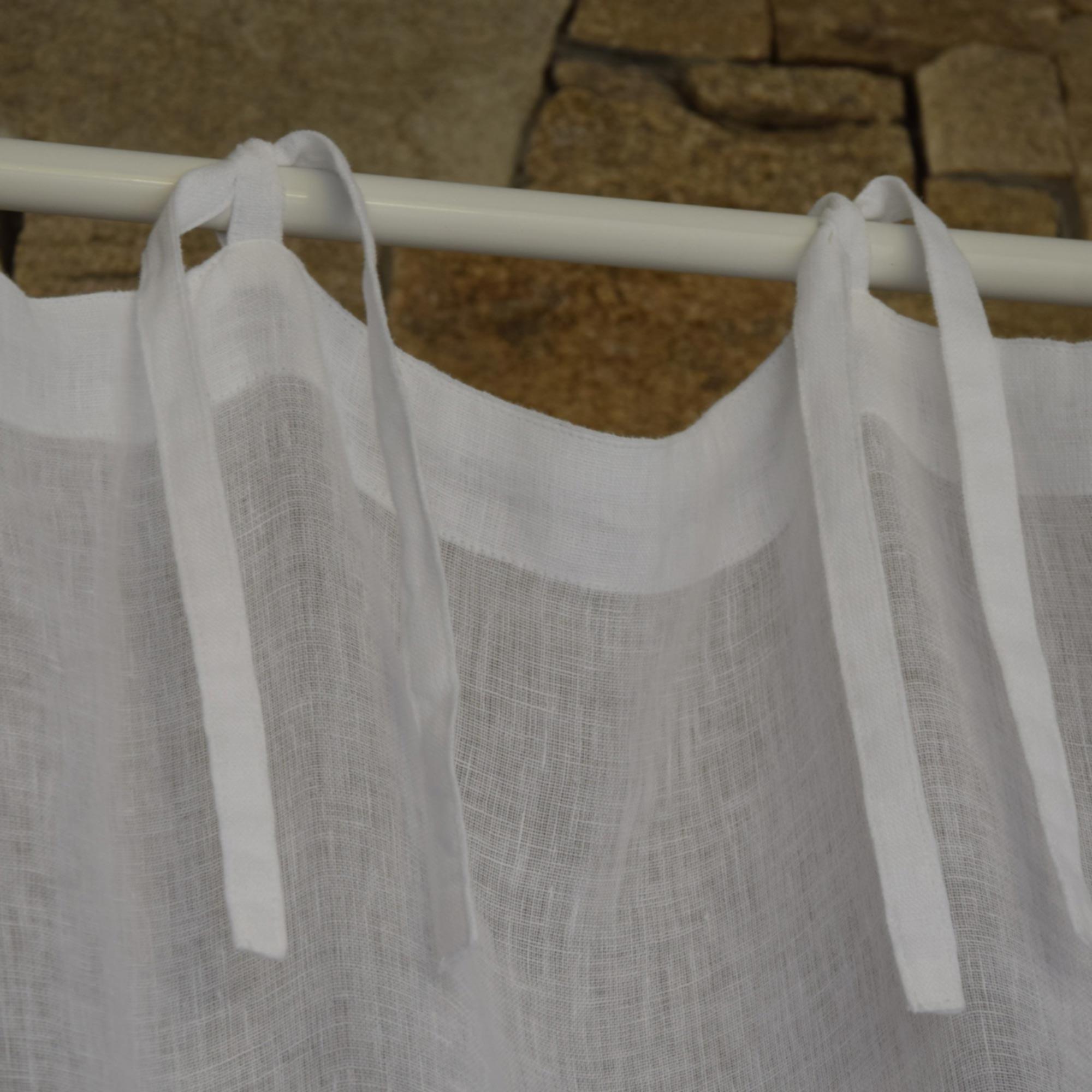 White Fine Linen Gauze Curtain Maison D 233 T 233