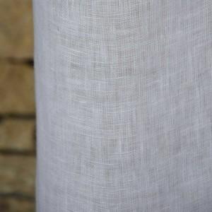 Rideau gaze de lin lavé blanc 140x270cm