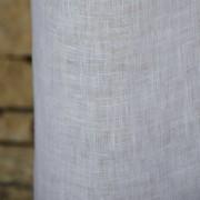 Rideau gaze de lin lavé blanc