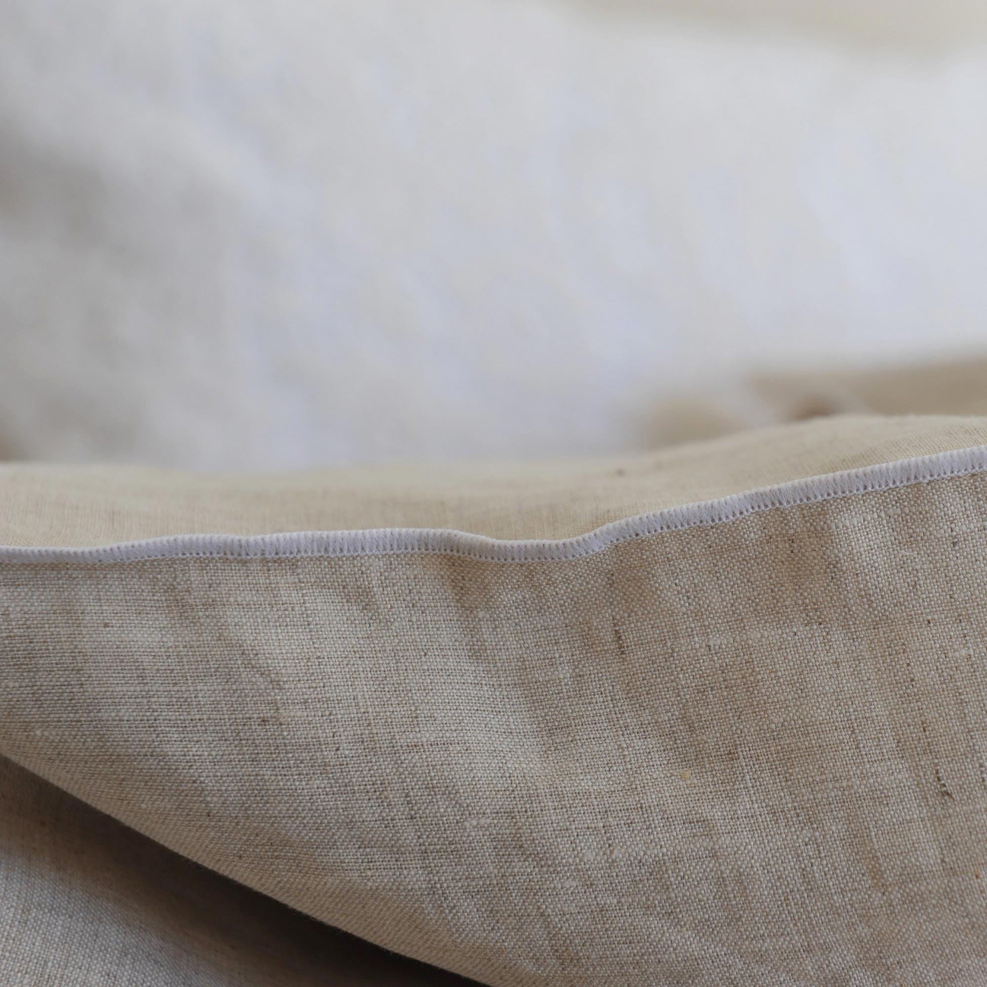 housse de couette lin lav naturel bourdon blanc maison d 39 t. Black Bedroom Furniture Sets. Home Design Ideas