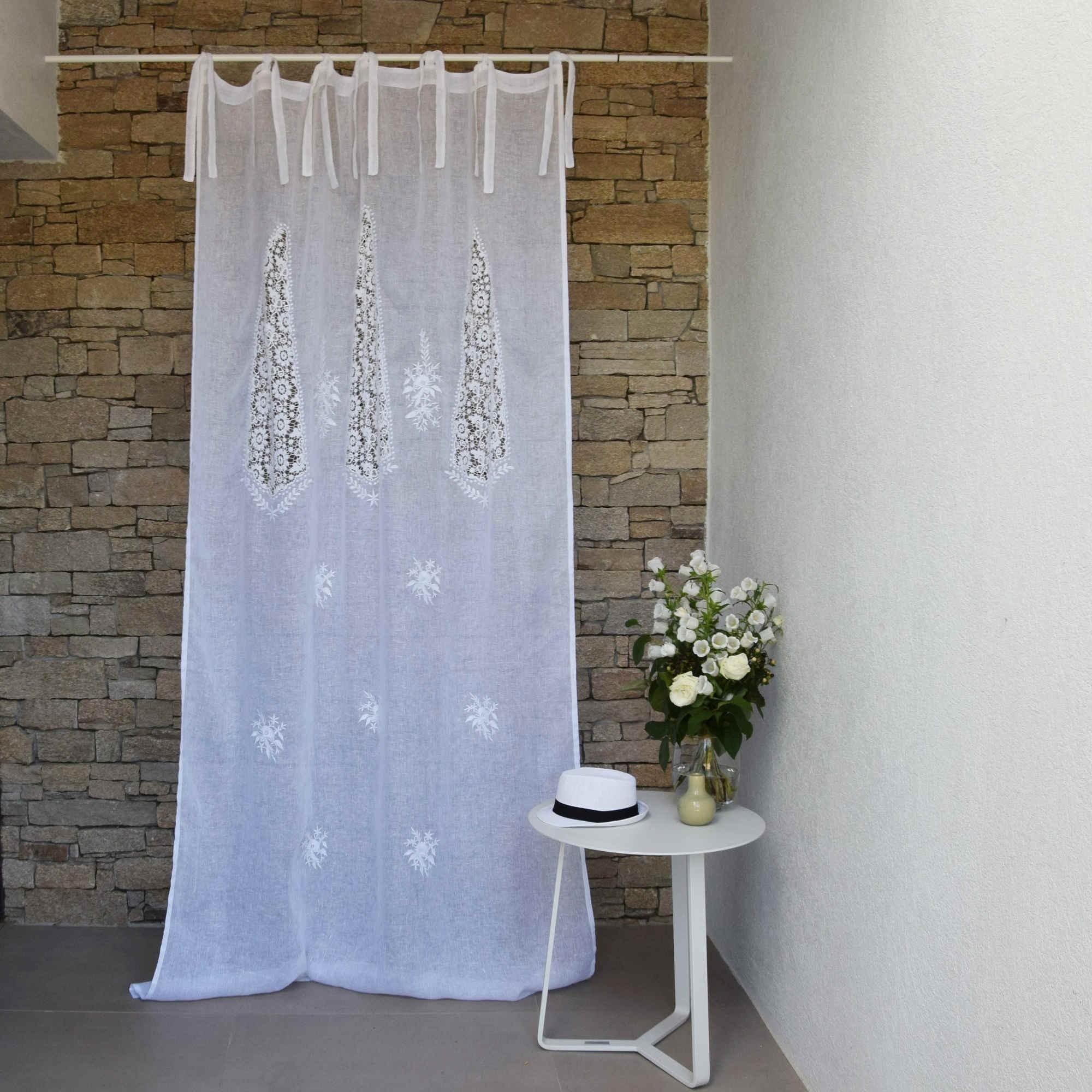 White Nantes Curtain Maison D 233 T 233