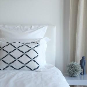 Taie d'oreiller en percale de coton blanc 80 fils jour poinçon