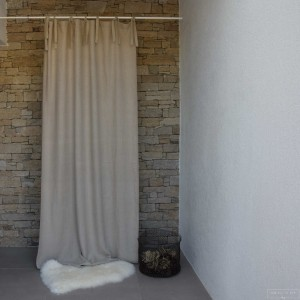 Natural linen curtain