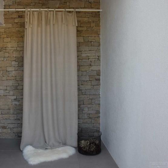 Rideau lin lav pais naturel maison d 39 t - Double rideau en lin ...