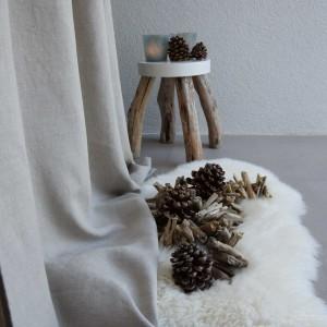 Rideau lin lavé épais naturel