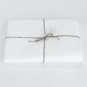 Drap housse en percale de coton blanc 80 fils/cm²²