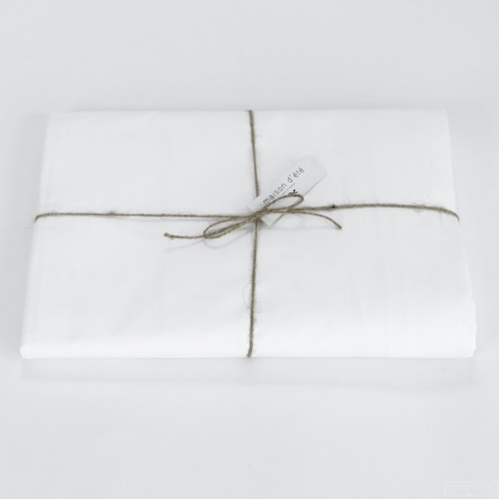 Drap housse en percale de coton blanc 80 fils cm for Drap housse en percale