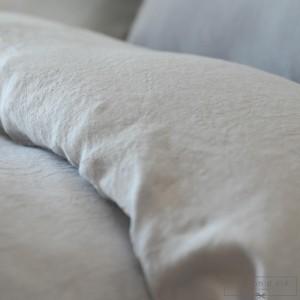 Housse de couette lin lavé gris perle
