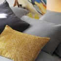 pebble gray washed linen pillow case