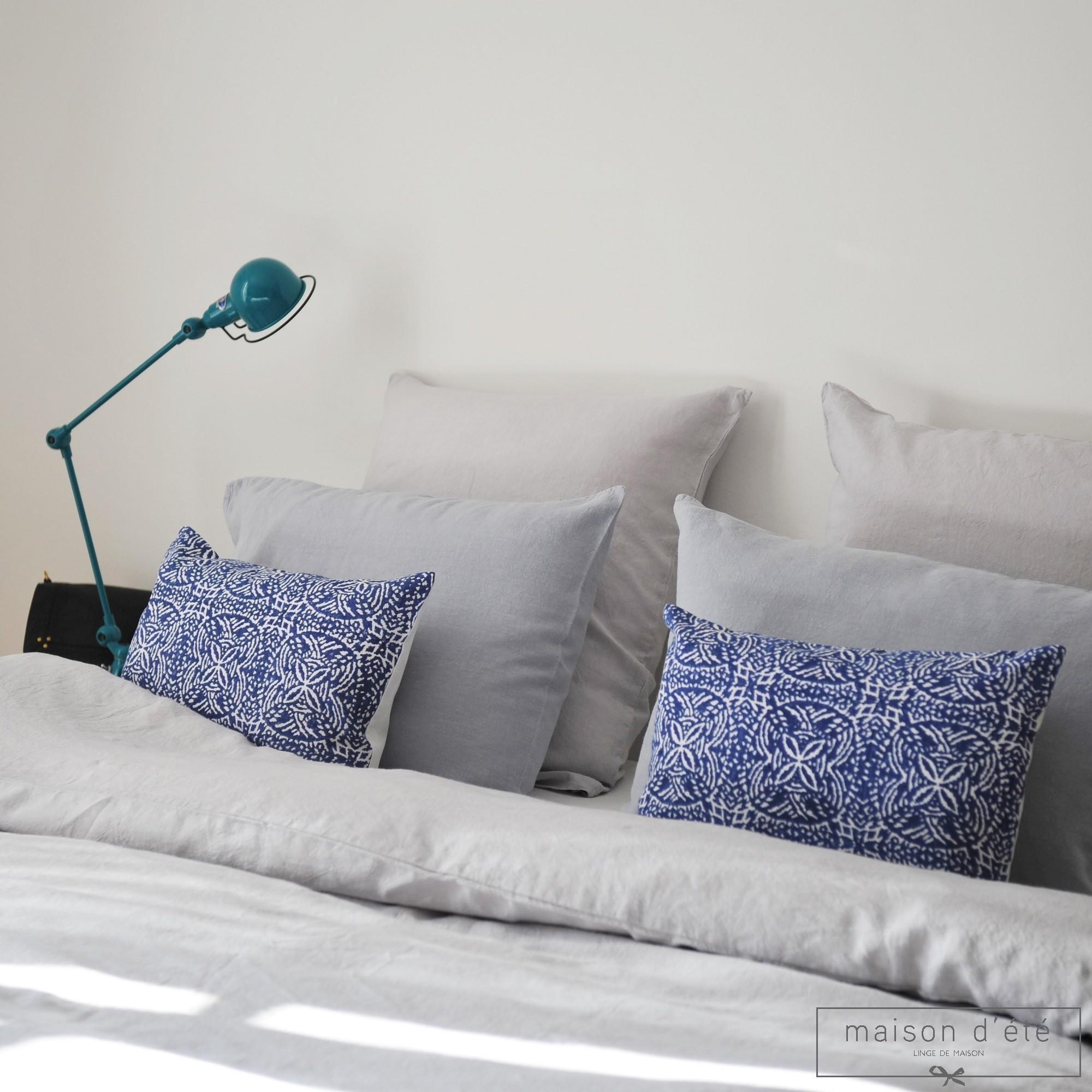 taie d 39 oreiller lin lav galet. Black Bedroom Furniture Sets. Home Design Ideas