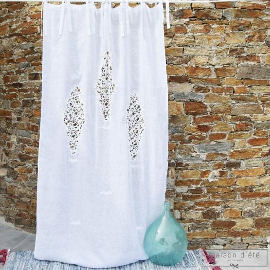 White linen curtain Eze