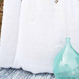 White linen curtain Eze