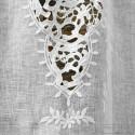 Ivory linen curtain Eze