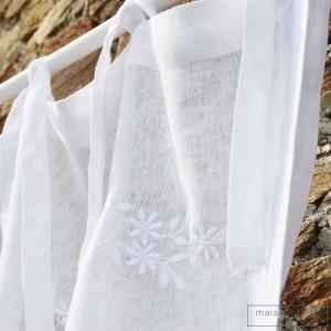 White linen curtain Saint Paul de Vence