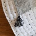 Dessus de lit Plumetis blanc - noir