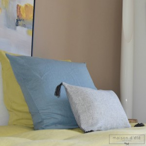 Nil blue washed linen pillowcases
