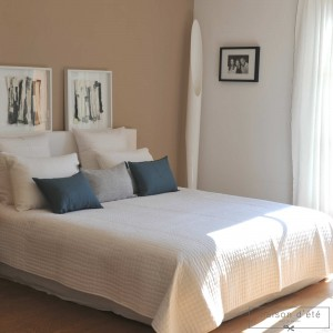 White satin stitch bedspread