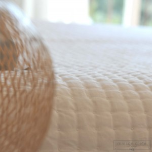 Dessus de lit Plumetis blanc