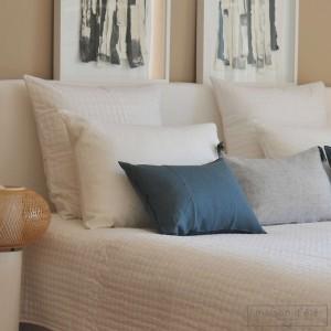 White satin stitch pillow case