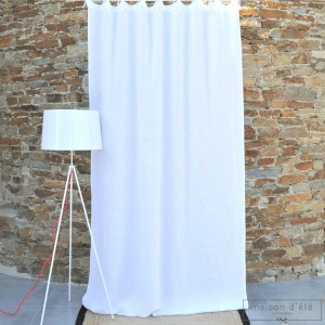 White washed linen curtain