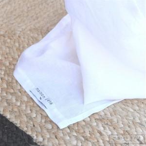Rideau lin lavé blanc
