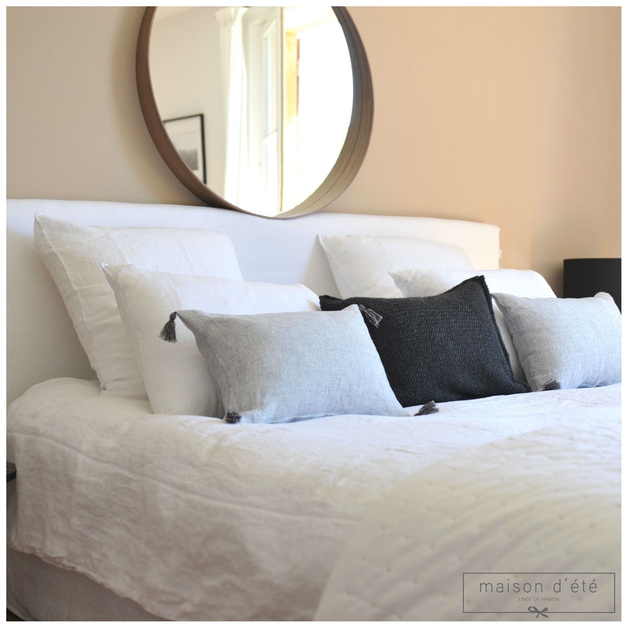 white washed linen comforter cover by maison d 39 t. Black Bedroom Furniture Sets. Home Design Ideas