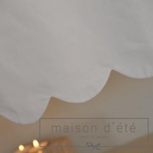 Cantonnière feston coton blanc
