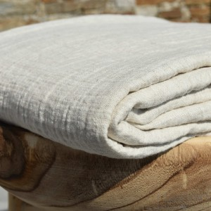 Natural embossed linen