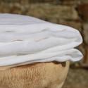 Gaze de lin lavé blanc