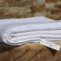 Lin lavé blanc épais