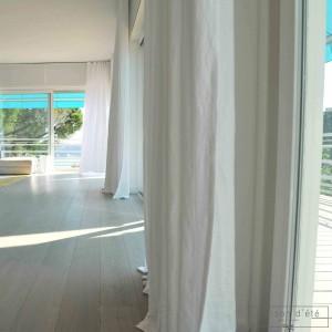 linge de maison en lin ou en percale de coton rideaux en lin maison d 39 t. Black Bedroom Furniture Sets. Home Design Ideas