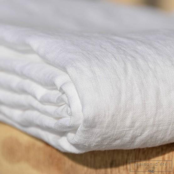 Lin lavé blanc au mètre