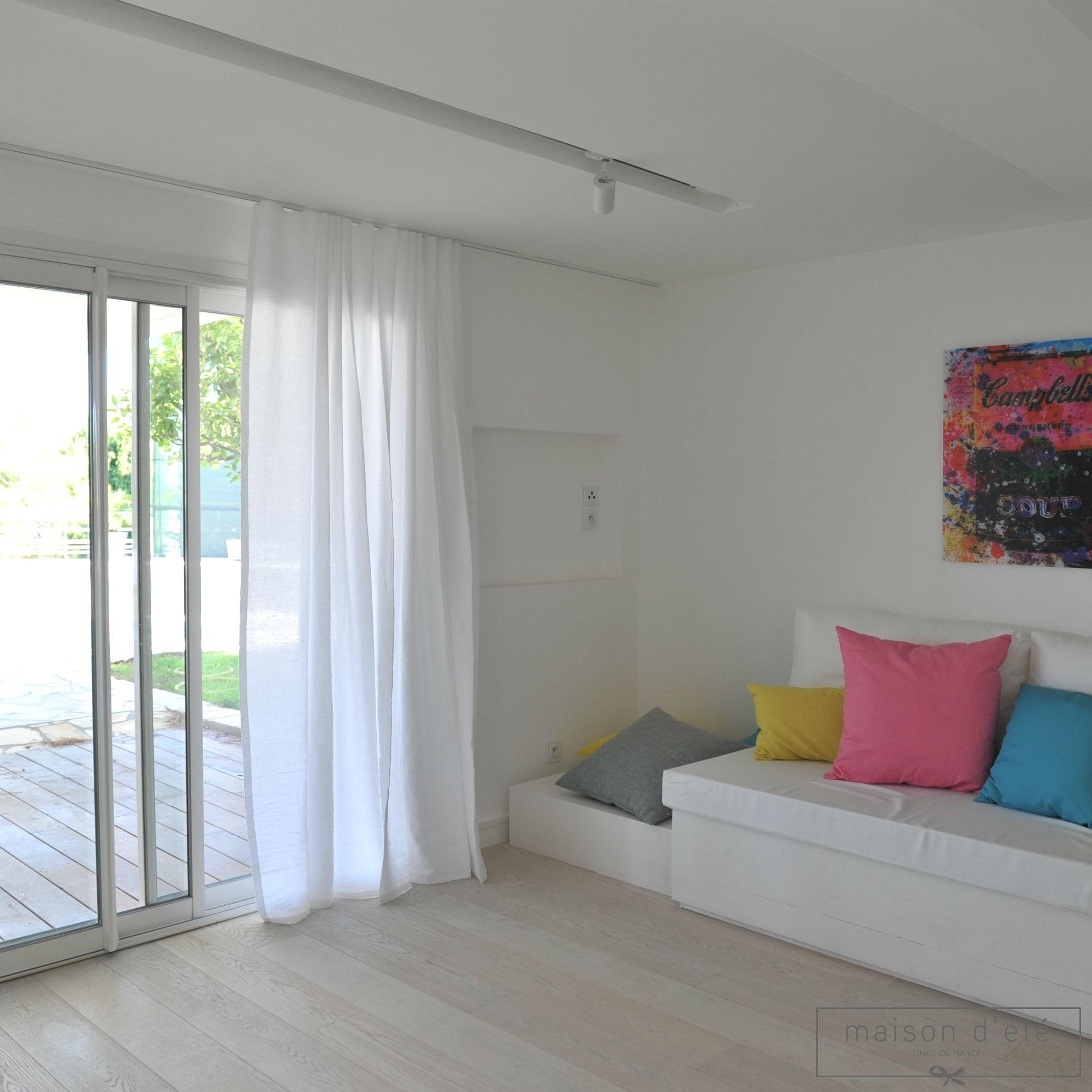 lin lav blanc vendu au m tre. Black Bedroom Furniture Sets. Home Design Ideas
