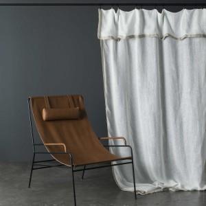 rideaux en lin rideaux brod s rideau blanc maison d 39 t. Black Bedroom Furniture Sets. Home Design Ideas