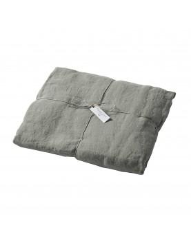 Drap housse lin stone washed gris souris