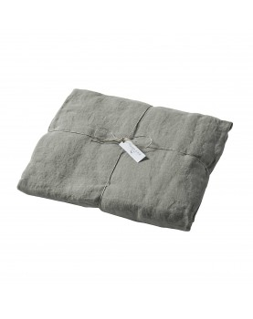 Nil blue washed linen fitted sheet