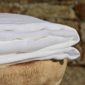 White washed linen gauze per meter