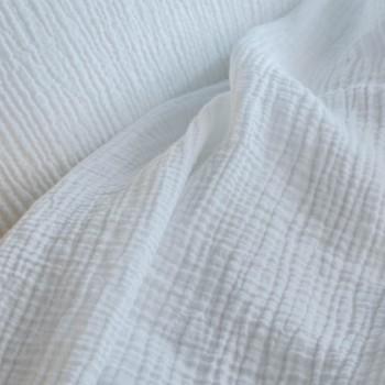 Taie d'oreiller gaze de coton blanc