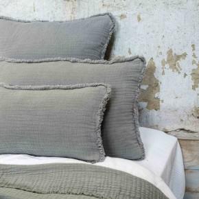 Dessus de lit Ibiza glacier en gaze de coton