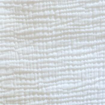 Dessus de lit en gaze de coton ivoire