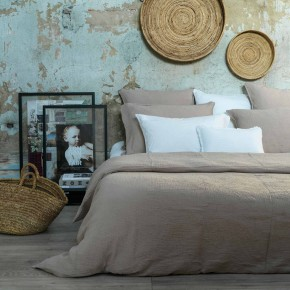 Sand cotton gauze duvet cover