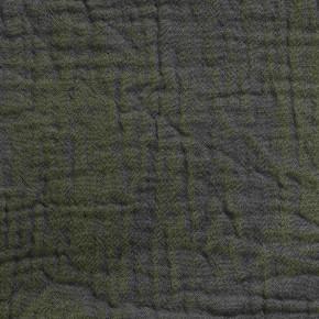 Kaki cotton gauze duvet cover light