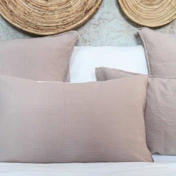 Nude cotton gauze pillow cover