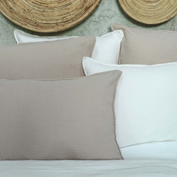 Sand cotton gauze pillow cover