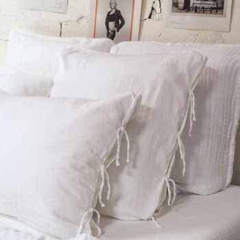 Pillowcase light white cotton gauze